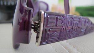 Fendi Angular Shaped Sunglasses dark violet-silver-colored