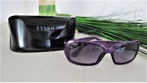 Fendi Occhiale da sole spigoloso viola scuro-argento