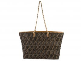 Fendi Zucca Quilted Canvas Roll Tote