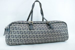 Fendi Sac à main bleu fibre textile