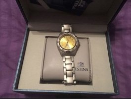 Festina Watch With Metal Strap yellow-silver-colored
