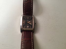 Festina Watch With Leather Strap silver-colored-black brown