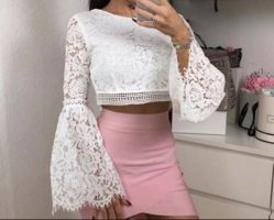 Boohoo Cropped top wit