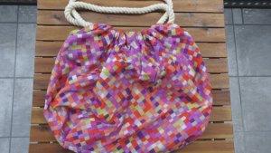Festival Stofftasche in Sommerfarben karriert