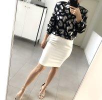 Glanzende blouse donkerblauw-zilver