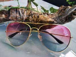*Festpreis* Sonnenbrille, Rosa, Blau & Gold, Mehrfarbig