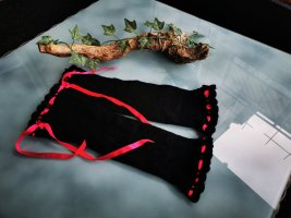 Scaldamuscoli nero-magenta Tessuto misto