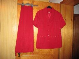 KLiNGEL Traje de pantalón rojo ladrillo-rojo oscuro Poliéster