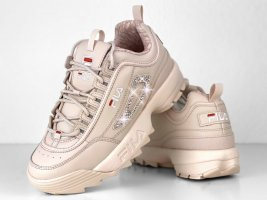 Fila Heel Sneakers dusky pink-pink leather