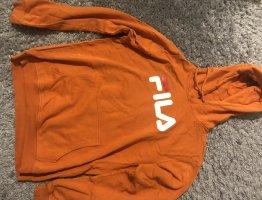 Fila Sweter z kapturem jasny pomarańczowy-biały