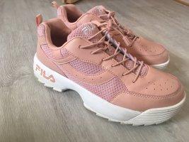 Fila Sneakers met hak rosé