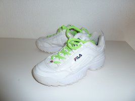 Fila Lace Shoes white leather