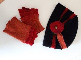Sombrero de lana carmín Lana