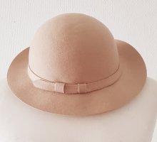 Vilten hoed beige