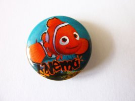 findet Nemo Button Anstecker Clownfish Fisch