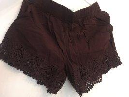 H&M Skort brun noir coton