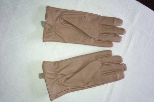 Unbekannte Marke Guanto con dita color oro rosa-malva Pelle