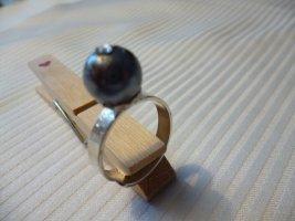 Fingerring 925er Sterlingsilber mit Muschelkernperle