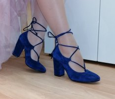 Fiore Lace-up Pumps blue leather