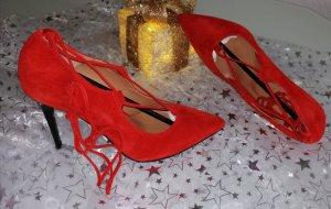 Fiore Tacones con cordones rojo Cuero