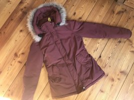 Fiore XS Bordeaux rot echt Fell Winter Jacke Parka Mantel