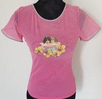 Fiorucci Tshirt in Netzoptik, pink, Gr, XS