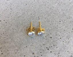 FIRETTI Clou d'oreille doré-blanc