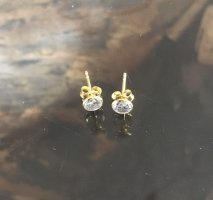 Ear stud gold-colored-white