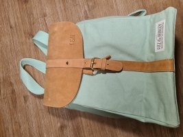 Fitz&Huxley Mochila para portátiles marrón claro-menta