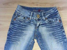Five 5 PM Jeans 34-36 36 Heiss Used Batik Look