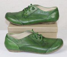 Flache Bequem Leder Schuhe josef Seibel Größe 36 Grün Grasgrün Patina Schlüpfschuhe Sneaker Ente Trotteur