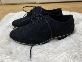 Wingtip Shoes black-gold-colored