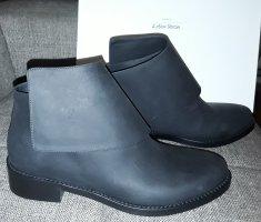 flache Leder Ankle Boots