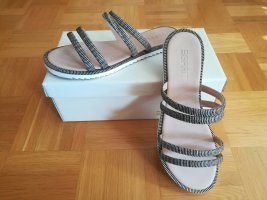 Esprit Sandały z rzemykami czarny-jasnobeżowy