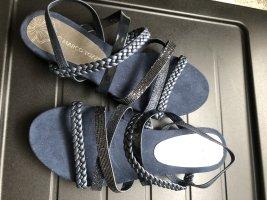 Flache Sandaletten, dunkelblau, Gr. 39
