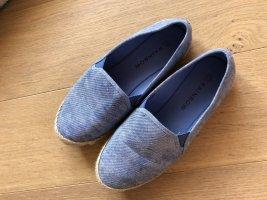 Flache Schuhe leicht Mokassins Ballerina Jeanslook Gr. 39