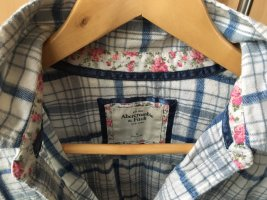 Abercrombie & Fitch Camisa de franela blanco-azul aciano