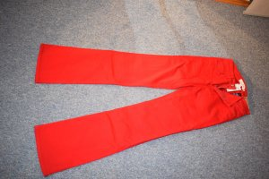 H&M L.O.G.G. Jeansowe spodnie dzwony czerwony