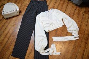 Flared Striped Pants 34 schwarz Nakd Top
