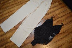 Flared Striped Pants Gr. 34 Nakd beige top