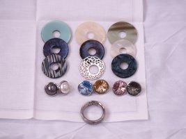 Flash Sale Lumani Ring-Schmuck Set, zahlreiche Kombinationsmöglichkeiten, 17 Teile, Ringgröße 50/52 Edelstahl, insgesamter Wert 259€