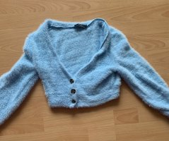 Bershka Sweat Jacket azure