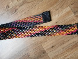 Braided Belt multicolored leather
