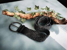 Madonna Braided Belt black-silver-colored mixture fibre
