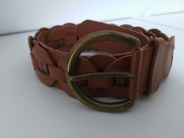 Braided Belt bronze-colored-cognac-coloured