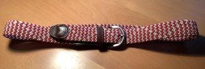 Charles Tyrwhitt Braided Belt magenta-natural white linen