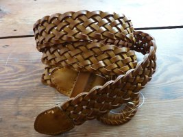 Flechtgürtel Ledergürtel geflochtener Gürtel braun vintage Accessoire Trends