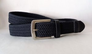 Braided Belt dark blue-silver-colored
