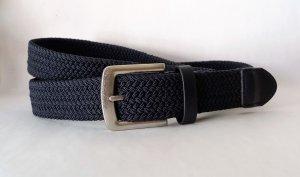 Pleciony pasek ciemnoniebieski-srebrny
