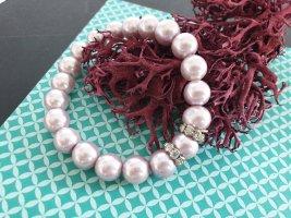 Pearl Bracelet mauve-lilac
